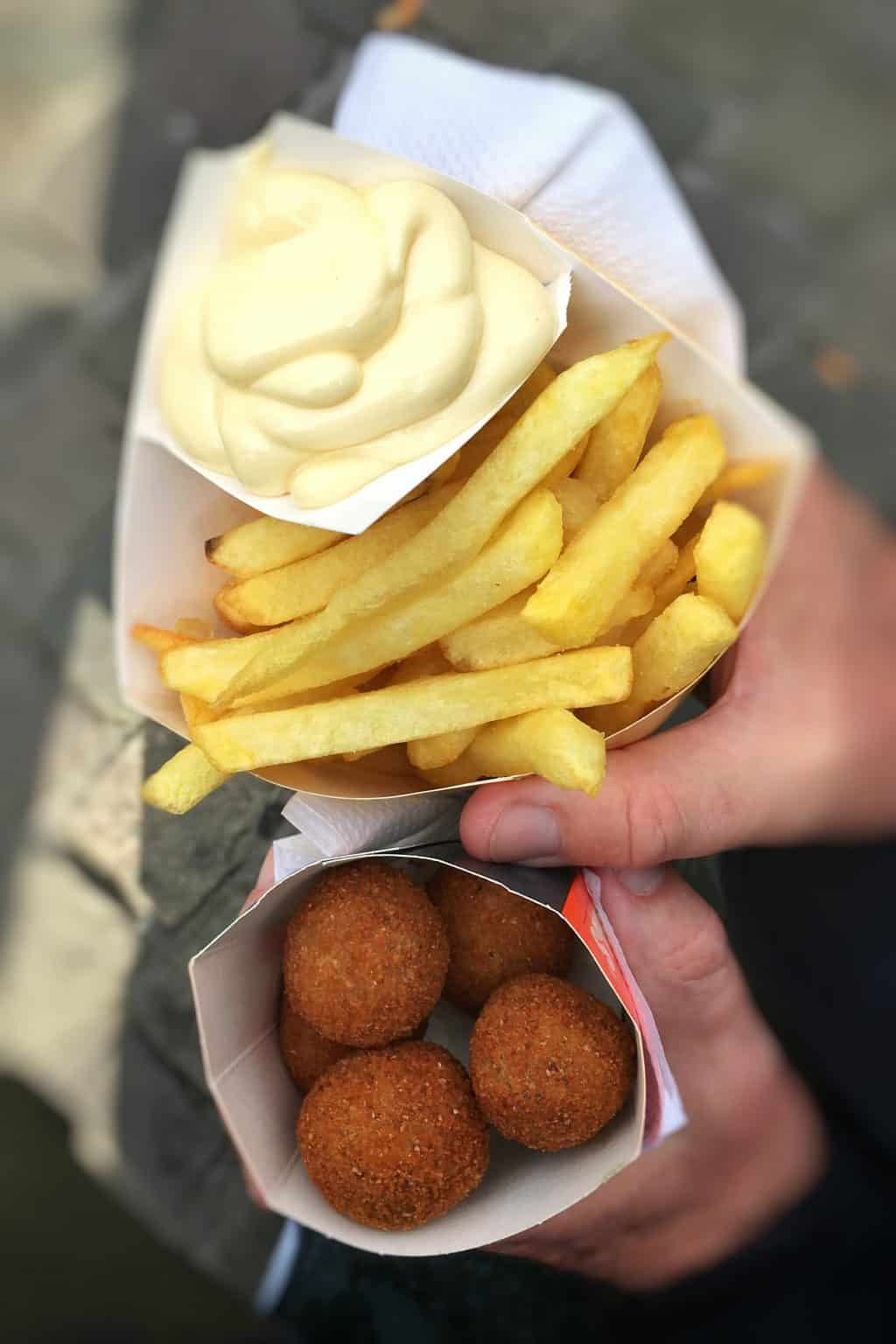 Have you visited Belgium before? Do you know what type of Belgian street food you can find around here?