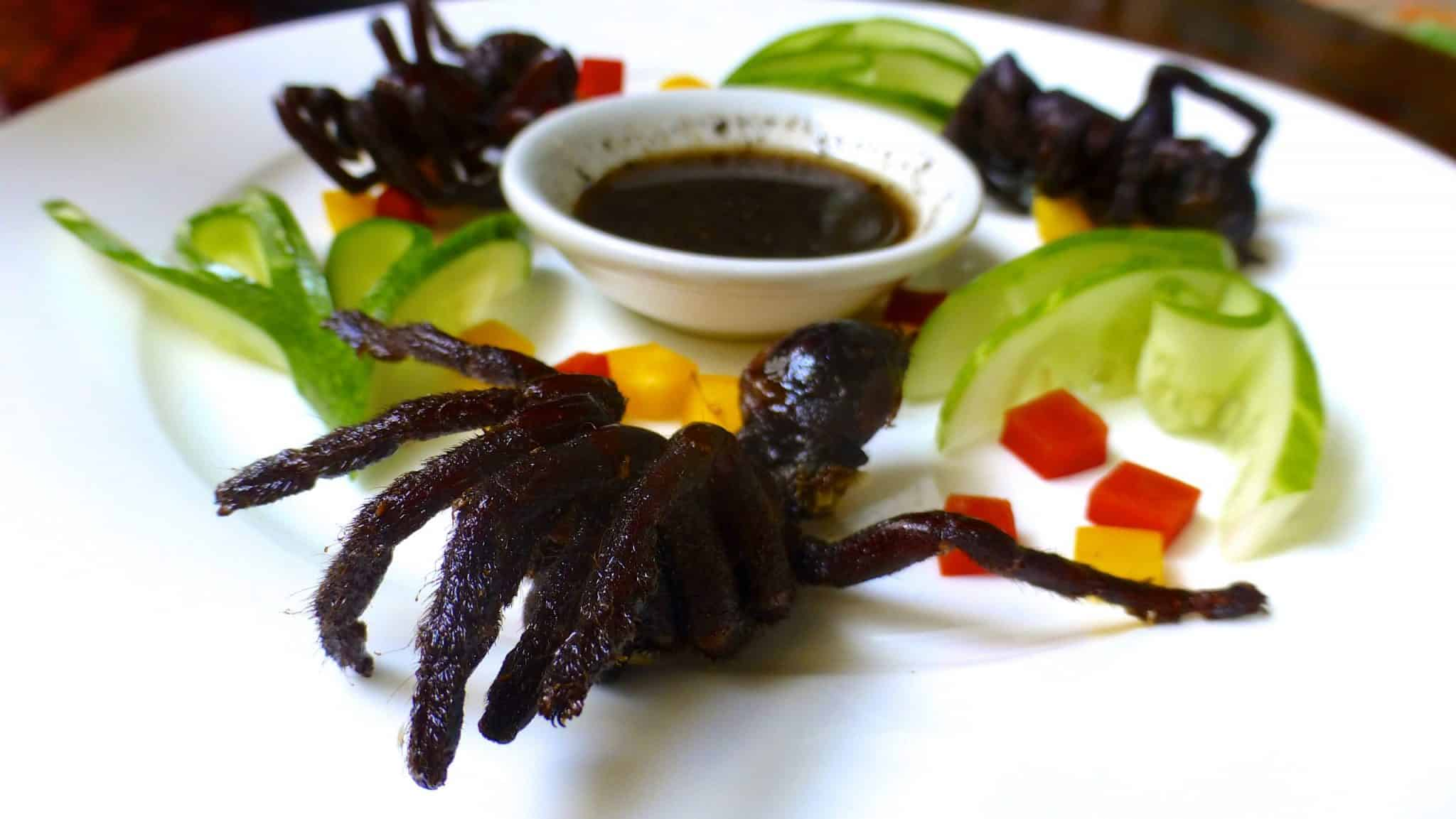 Would you try deep fried tarantula if you had the chance? I did! It is a popular snack in Cambodia. Here is how it went...