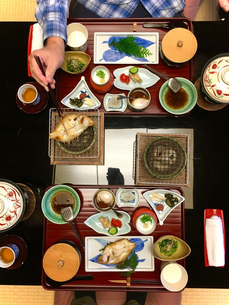 A multi course Japanese style haute cuisine kaiseki dinner? We recommend you eat both dinner and breakfast in a ryokan at least once when you visit Japan.